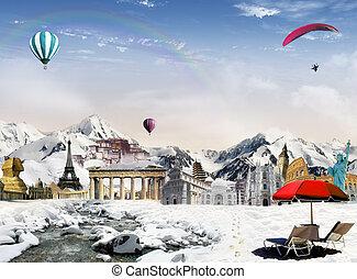 ランドマーク, 世界, 山
