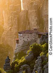 ランドマーク, 修道院, meteora, ギリシャ