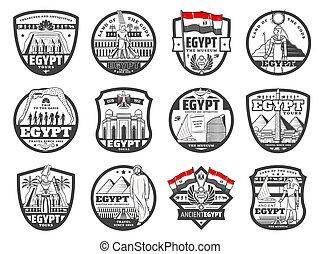 ランドマーク, 文化, アイコン, エジプト, 旅行, カイロ, 古代