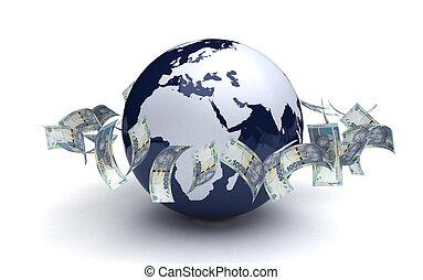 ランド, ビジネス, 世界的な通貨, アフリカ, 南