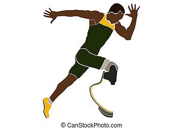 ランナー, 不具の運動選手