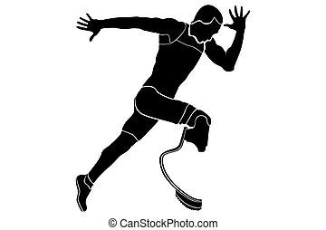 ランナー, 不具の運動選手, 爆発物