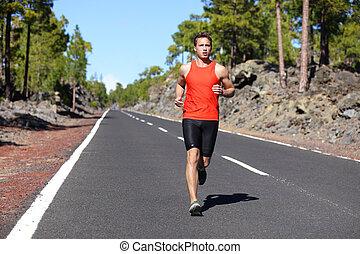 ランナー, -, 動くこと, ジョッギング男性, 人