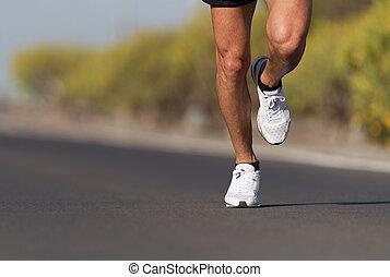 ランナー, 動くこと, フィットネス, スポーツ, 道, 人