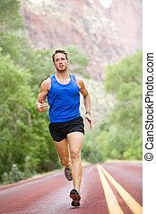 ランナー, 動くこと, -, 運動選手, 人
