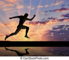 ランナー, 動くこと, 運動選手, sports.