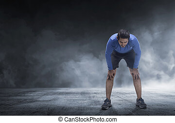 ランナー, 取得, 若い, 残り, ジョッギング, アジア 人
