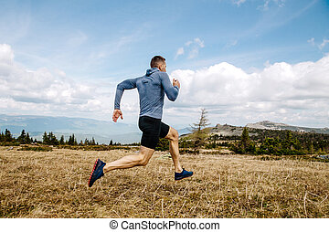 ランナー, 国, 走っている男性, 交差点