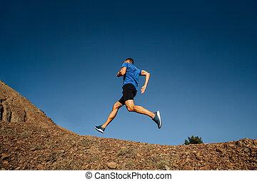 ランナー, 坂の上へ, 運動選手, 動くこと