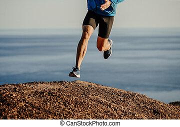 ランナー, 坂の上へ, 運動選手, 動くこと, 山