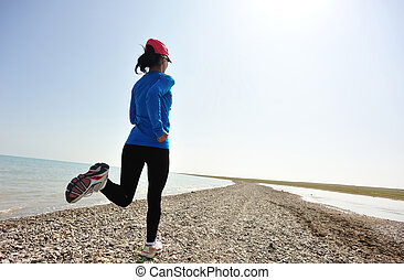 ランナー, 石, 運動選手, 動くこと