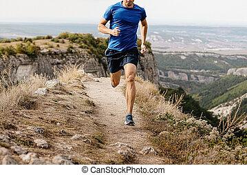 ランナー, 走っている男性