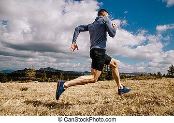 ランナー, 走っている男性, 速い