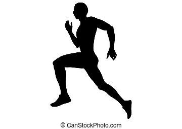 ランナー, 運動選手, 動くこと, より速く