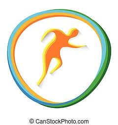 ランナー, 運動選手, 競争, 運動競技, スポーツ, アイコン