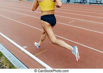 ランナー, 運動選手, 足, 女