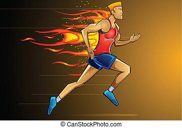 ランナー, fiery