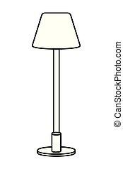 ランプアイコン, 黒, 白, 漫画