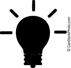 ランプ, イラスト, ベクトル, 白い背景
