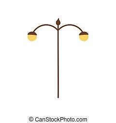 ランプ, ライト, アイコン, ポスト, 通り