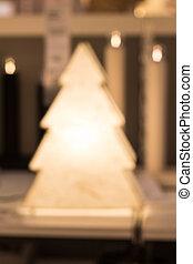 ランプ, 木, 形, クリスマス
