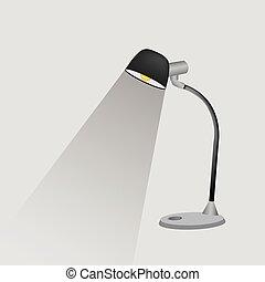 ランプ, 机, アイコン