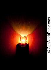 ランプ, -, 赤, 縦