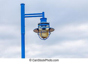 ランプ, 通り, 空, 背景