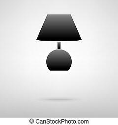ランプ, 黒, icon.