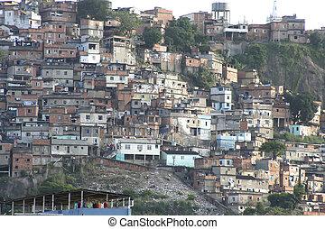 リオ, janeiro, de, favela