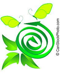 リサイクルされる, シンボル, 生態学的