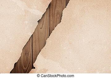 リサイクルされる, ペーパー, wood.
