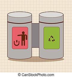 リサイクルされる, 缶, ごみ