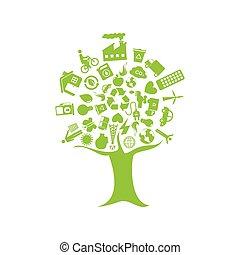 リサイクルしなさい, エコロジー, 木, enviroment