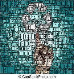 リサイクルしなさい, エコロジー, 減らしなさい, 再使用