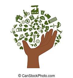 リサイクルしなさい, エコロジー, enviroment, 手