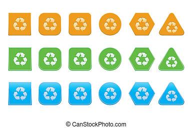 リサイクルしなさい, セット, アイコン