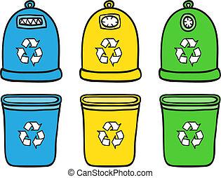 リサイクルしなさい, セット, 屑, 大箱