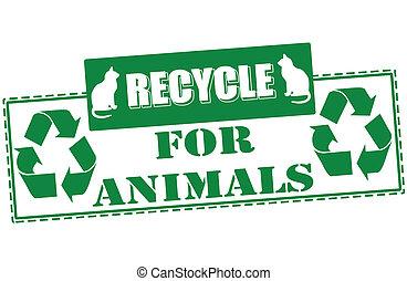リサイクルしなさい, 切手, 動物