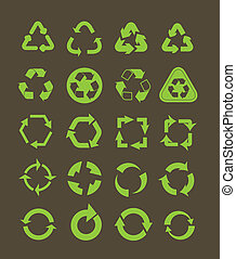 リサイクルしなさい, 別, コレクション, アイコン