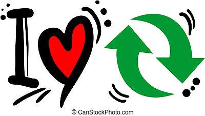 リサイクルしなさい, 愛