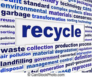 リサイクルしなさい, 概念, 言葉, 技術的である
