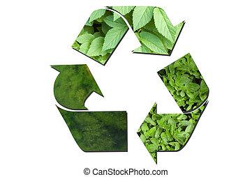 リサイクルしなさい, 生態学的, 緑, 印