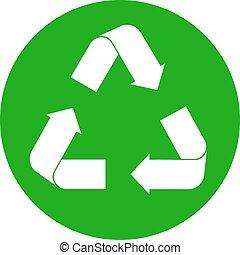 リサイクルしなさい, 白, 印
