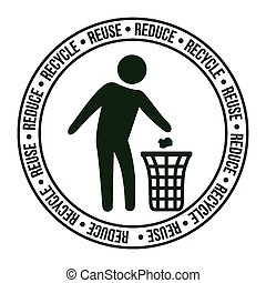リサイクルしなさい, design.