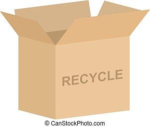 リサイクルの箱, 寄付, ベクトル
