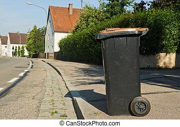 リサイクル, ごみ, ∥あるいは∥, 浪費ビン, 中に, 小さい, 都市