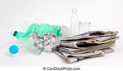 リサイクル, ごみ, そして, 再使用可能, 無駄