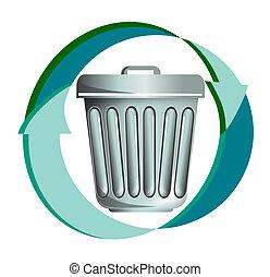 リサイクル, ごみ, アイコン