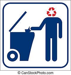 リサイクル, ベクトル, シンボル